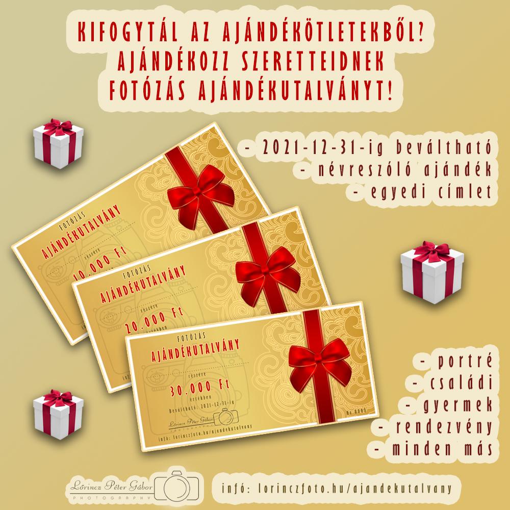 Kifogytál az ajándékötletekből? Ajándékozz fotózás ajándékutalványt!